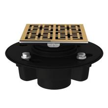 """Italian Brass Abs 2"""" X 3"""" Drain Kit With 3142 Weave Decorative Cover"""