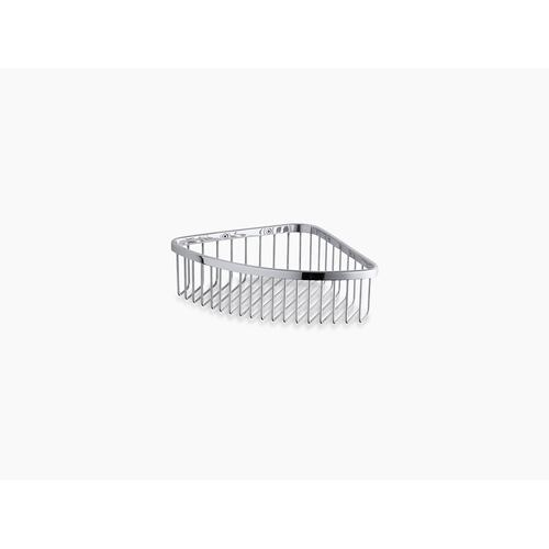 Brushed Stainless Large Shower Basket