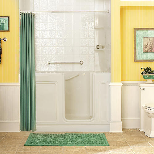 American Standard - Luxury Series 32x60-inch Walk-In Tub with Combo Air Spa and Whirlpool Systems  American Standard - Linen