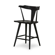 Counter Stool Size Black Oak Finish Ripley Bar + Counter Stool