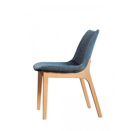 Gallery - Modrest Chrissy - Modern Blue Fabric Dining Chair (Set of 2)