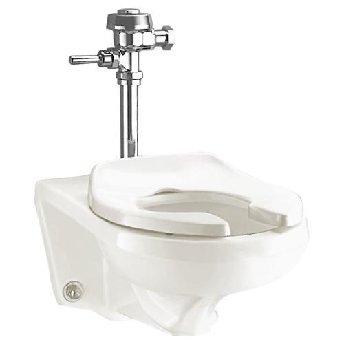 American Standard - Afwall 1.28-1.6 gpf Universal Flushometer Toilet - White