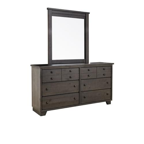 Dresser \u0026 Mirror - Storm Gray Finish