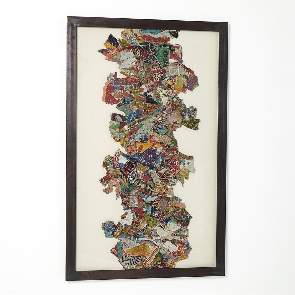 See Details - Kantha I Abstract Design w/Metal Frame