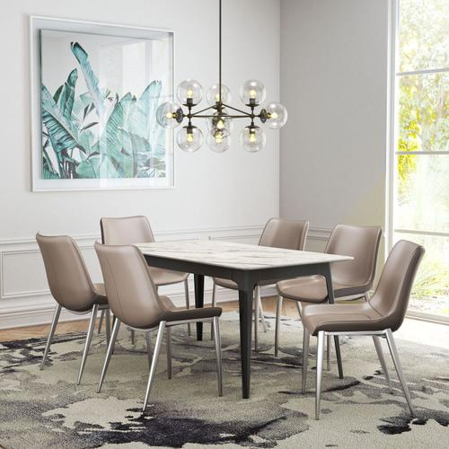 Zuo Modern - Magnus Dining Chair Gray & Silver
