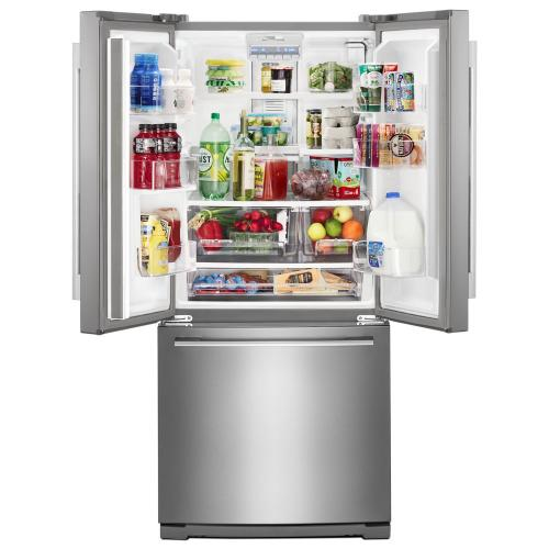 Whirlpool - 30-inch Wide Contemporary Handle French Door Refrigerator - 20 cu. ft.