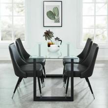 See Details - Franco/Silvano 5pc Dining Set, Black/Vintage Grey