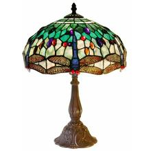 View Product - Tiffany Style White DragonflyTable Lamp