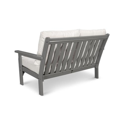 White & Cast Ash Vineyard Deep Seating Settee