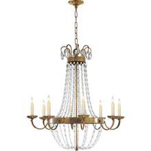 View Product - E F Chapman Paris Flea Market 8 Light 32 inch Antique-Burnished Brass Chandelier Ceiling Light