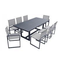 Renava Wake - Modern Dark Charcoal Outdoor Dining Table