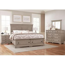 MANSION BED WITH STORAGE FOOTBOARD