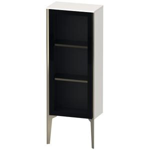 Semi-tall Cabinet With Mirror Door Floorstanding, White High Gloss (decor)