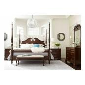 Rice Carved Queen Bed - Complete