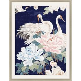 Pearly White Cranes I