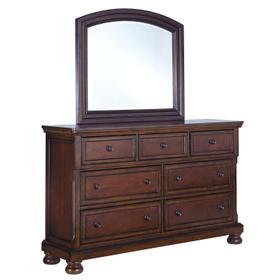 Porter Bedroom Mirror Rustic Brown