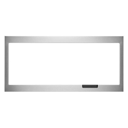 Built-In Low Profile Microwave Slim Trim Kit with Pocket Handle, Stainless Steel