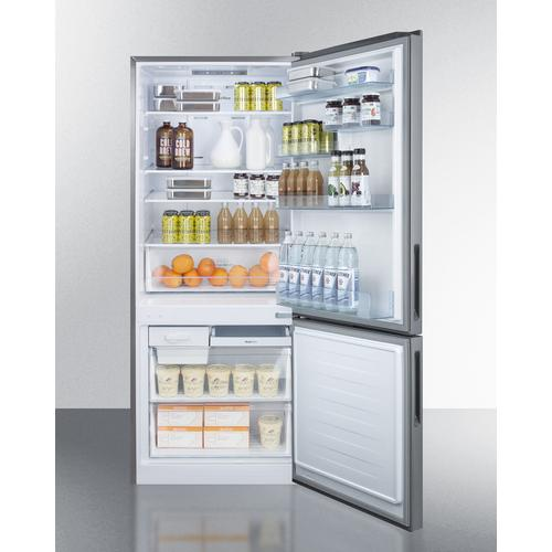 """Summit - 28"""" Wide Bottom Freezer Refrigerator"""
