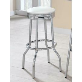 See Details - Cleveland Contemporary White Bar-height Stool
