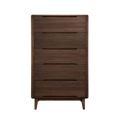 Currant Five Drawer Chest, Oiled Walnut