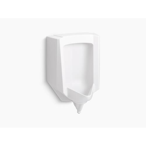 White Blow-out 0.5 To 1.0 Gpf Urinal With Rear Spud