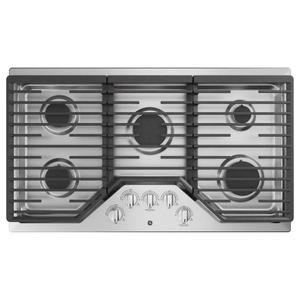 "GE® 36"" Built-In Gas Cooktop with 5 Burners and Dishwasher Safe Grates Product Image"