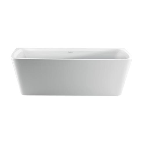 """Vincent 71"""" Acrylic Tub with Integral Drain and Overflow - Oil Rubbed Bronze Drain and Overflow"""