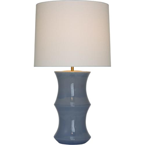 AERIN Marella 33 inch 15.00 watt Polar Blue Crackle Table Lamp Portable Light, Medium