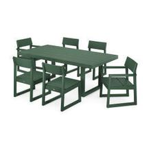 View Product - EDGE 7-Piece Dining Set in Green