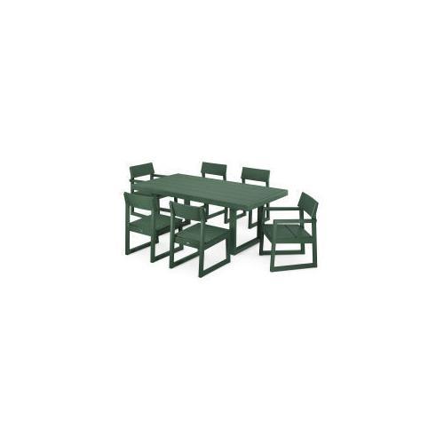 Polywood Furnishings - EDGE 7-Piece Dining Set in Green