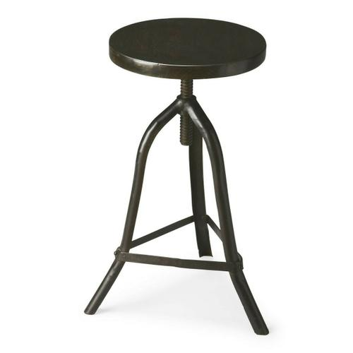 This wonderfully low-tech iron stool with acacia solid-wood seat can be adjusted to the ideal height for the space or the occasion. The simplicity of its design gives it versatility to add character and style with virtually any d cor.