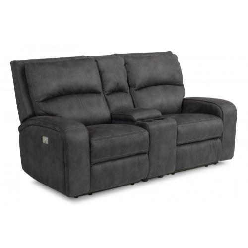 Product Image - Rhapsody Power Reclining Loveseat with Console & Power Headrests