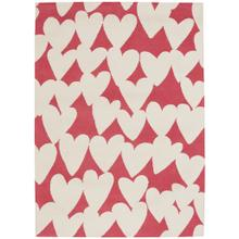 Sweet Treats-Hearts Pink Cream Machine Tufted Rugs