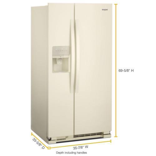 Whirlpool - 36-inch Wide Side-by-Side Refrigerator - 24 cu. ft.