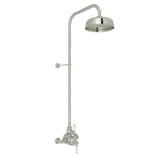 Polished Nickel Perrin & Rowe Edwardian Thermostatic Shower Package with Edwardian Metal Lever