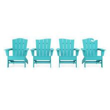 View Product - Wave Collection 4-Piece Adirondack Chair Set in Vintage Aruba