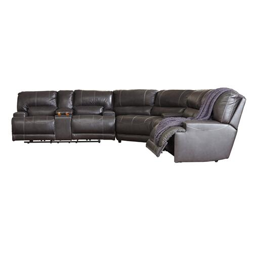 3 Piece Leather Reclining Sectional