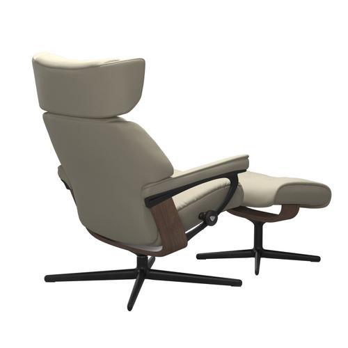 Stressless By Ekornes - Stressless® Skyline (S) Cross Chair with Ottoman