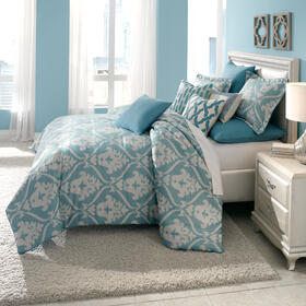 10pc King Comforter set Turquoise