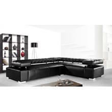 See Details - Divani Casa Disco - Modern Leather Sectional Sofa