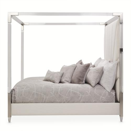 Amini - Eastern King Canopy Bed (4 Pc)