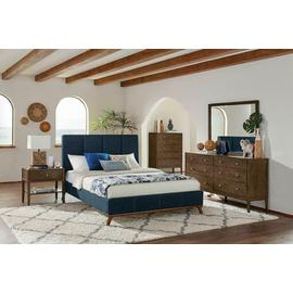 See Details - Charity Blue Upholstered Queen Bed