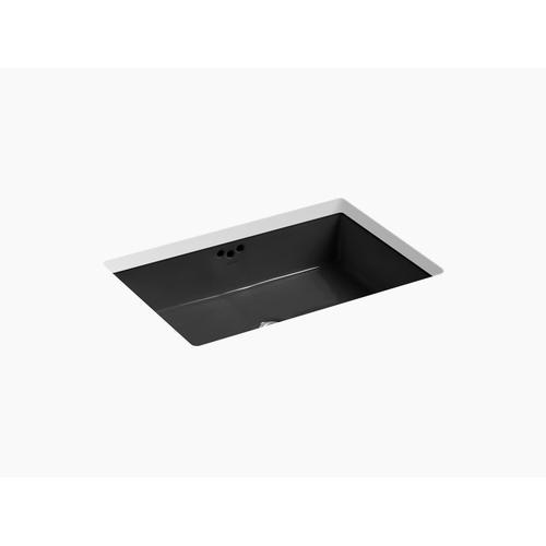"Black Black 23-7/8"" X 15-5/8"" X 6-1/4"" Undermount Bathroom Sink"