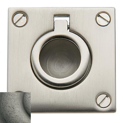 Baldwin - Distressed Antique Nickel Flush Ring Pull