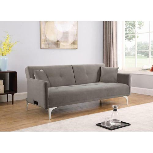 Sofa Bed W/ Power Outlet