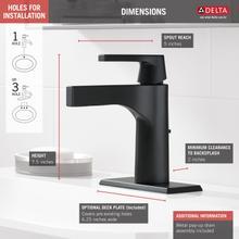 Matte Black Single Handle Bathroom Faucet