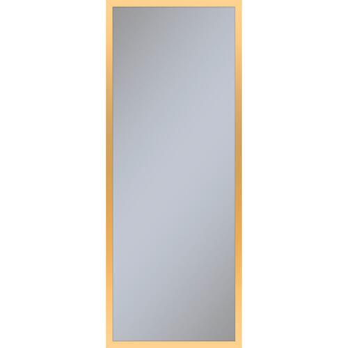 "Profiles 15-1/4"" X 39-3/8"" X 6"" Framed Cabinet In Matte Gold and Non-electric With Reversible Hinge (non-handed)"