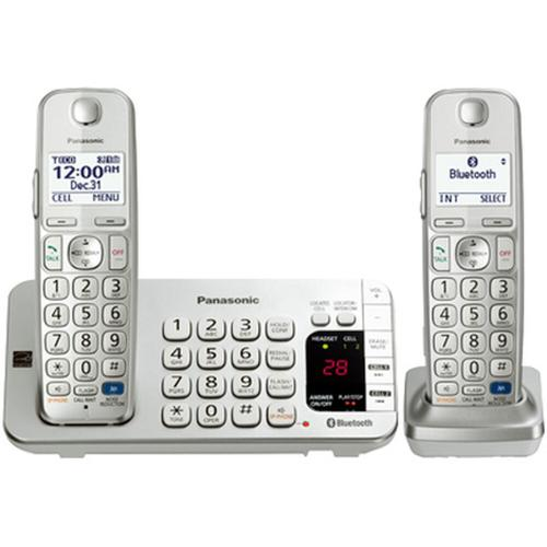 Link2Cell Bluetooth® Cordless Phone with Large Keypad - 2 Handsets - KX-TGE272S