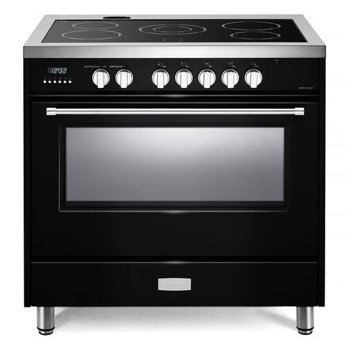 "Gloss Black 36"" Designer Electric Range"