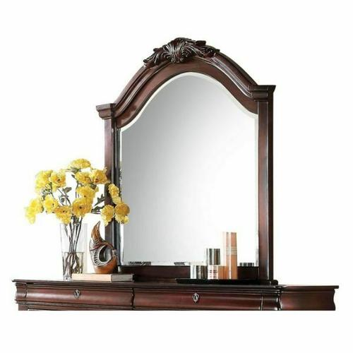 ACME Estrella Mirror - 20734 - Dark Cherry